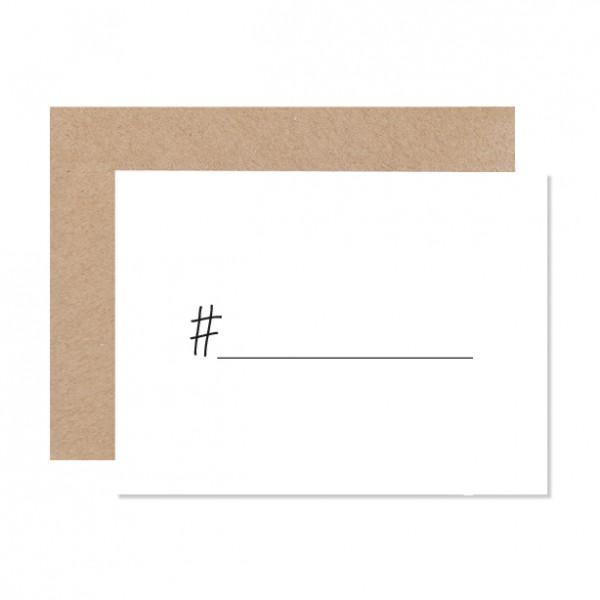 Hashtag – Klappkarte Letterpress
