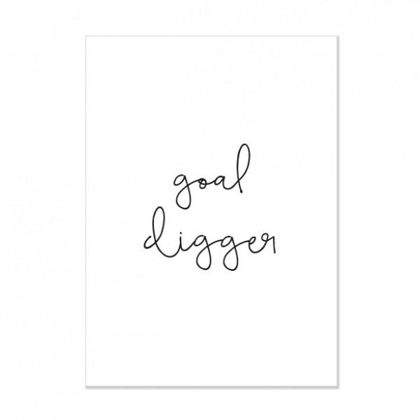 Goal digger - Letterpress Miniposter