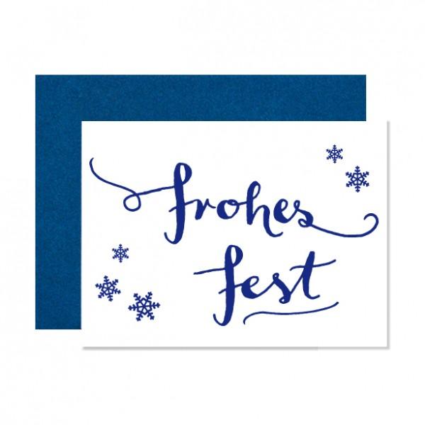 Frohes Fest – Klappkarte Letterpress