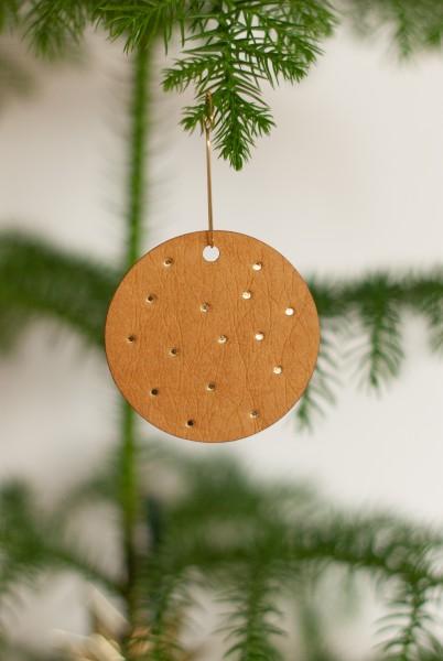 Christbaum- / Geschenkanhänger mit goldenen Punkten