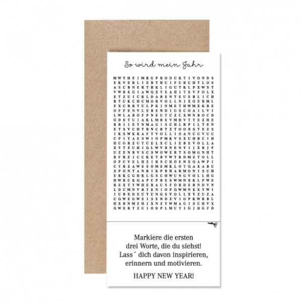 So wird mein Jahr – Karte Letterpress