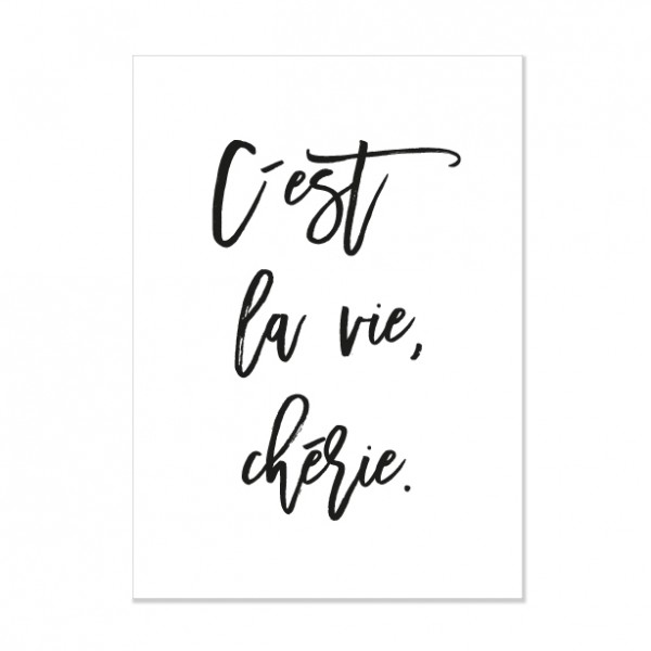 C´est la vie - Letterpress Miniposter