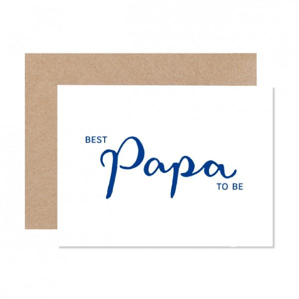 Best Papa to be - Klappkarte Letterpress