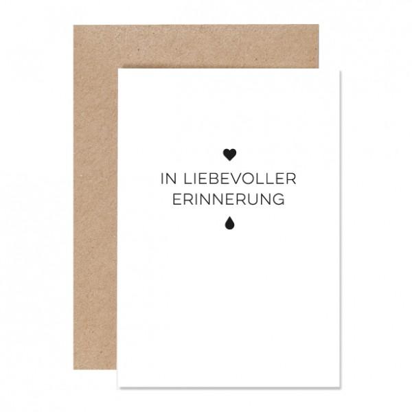 In Erinnerung – Klappkarte Letterpress