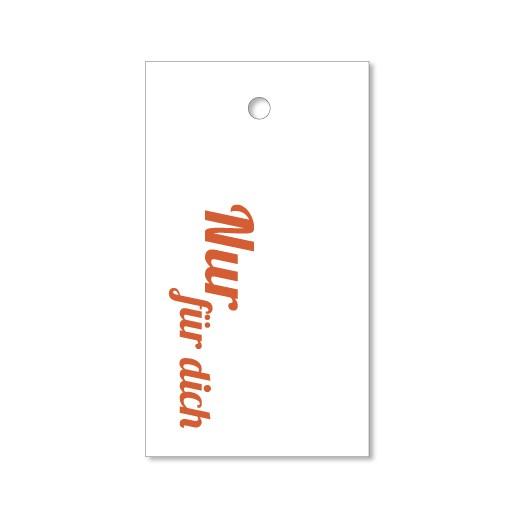 Nur für dich - 4 Letterpress Geschenkanhänger