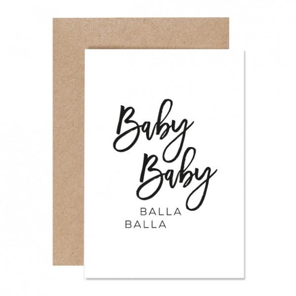 Baby Baby - Letterpress Klappkarte