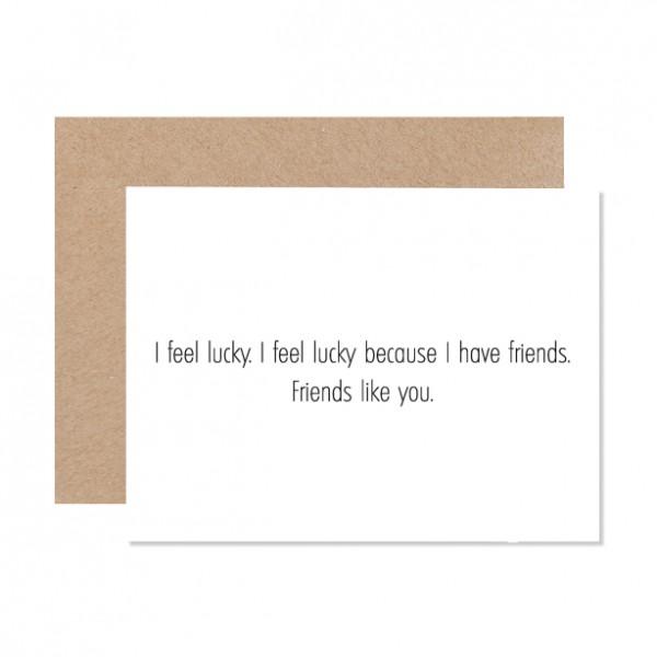 Lucky friends – Klappkarte Letterpress