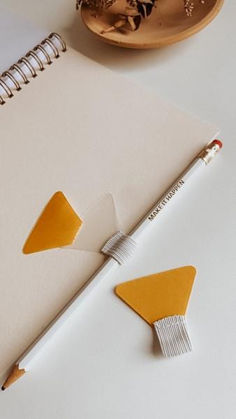Stifthalter für Notizbuch zum Einkleben mit Gummischlaufe, Stiftschlaufe