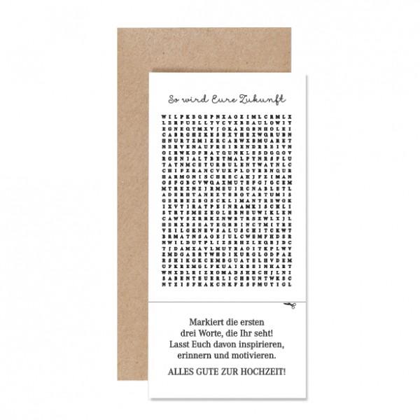 So wird Eure Zukunft – Karte Letterpress