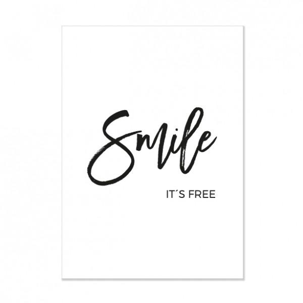 Smile - Letterpress Miniposter
