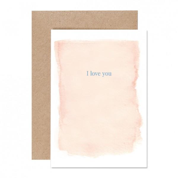 I love you – Klappkarte