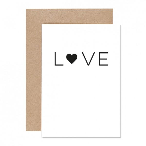 LOVE – Klappkarte Letterpress