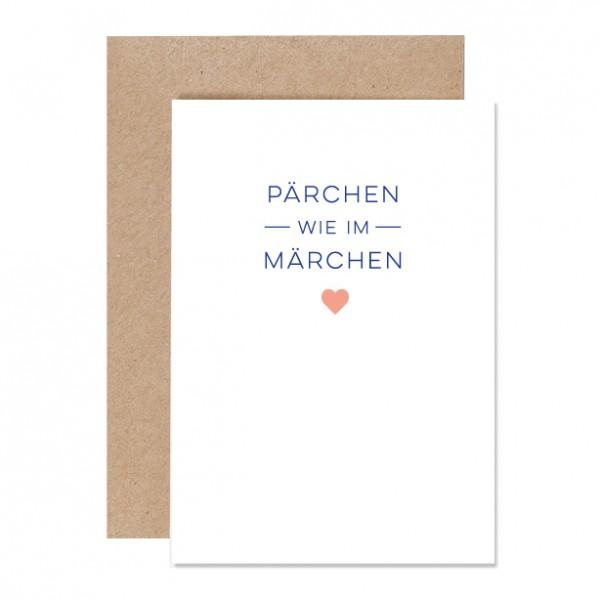 Pärchen wie im Märchen – Klappkarte Letterpress