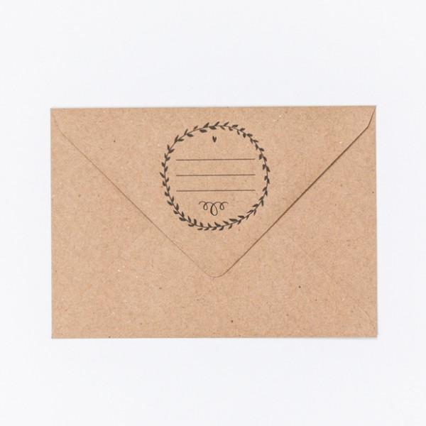 Absenderkranz - Letterpress Briefumschläge