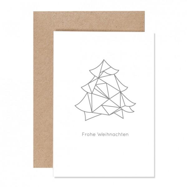 Geotanne frohe Weihnachten – Klappkarte Letterpress