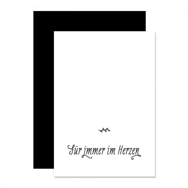 Für immer im Herzen – Klappkarte Letterpress