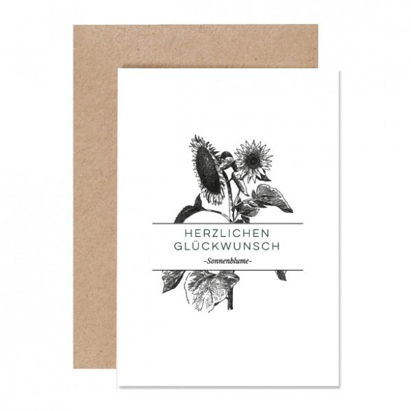 Herzlichen Glückwunsch - Klappkarte Letterpress