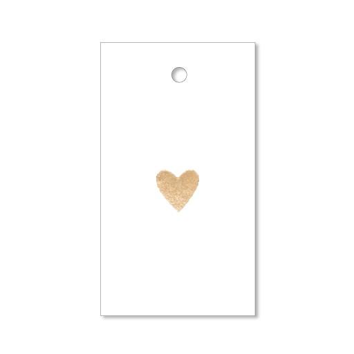 Goldenes Herz - 4 Letterpress Geschenkanhänger