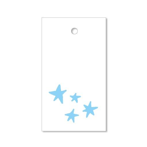 Sterne - 4 Letterpress Geschenkanhänger