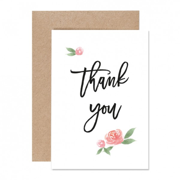Thank you – Klappkarte Letterpress-Copy