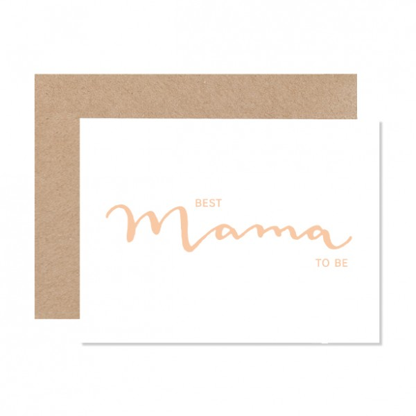 Best Mama to be - Klappkarte Letterpress